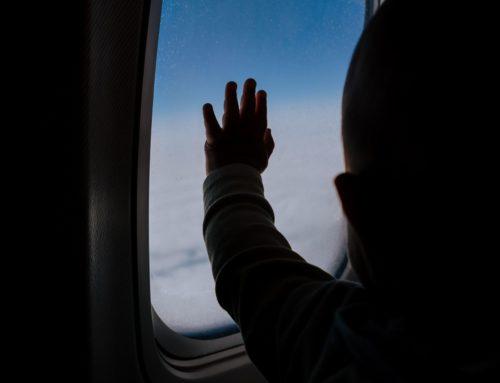 S bebom u avionu!
